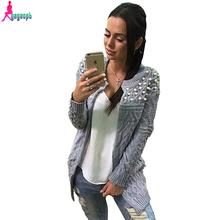 Gagaopt 2016 Russian Autumn&Winter Fashion Thick Warm Open Stitch Sweater Computer Knitted Women Sweater&Cardigan(China (Mainland))