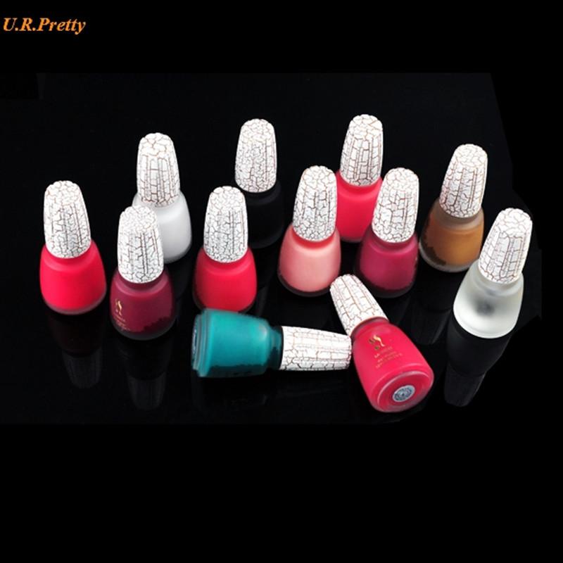New 12 Colors Crack nail polish Crackle fissure flaw Shatter Durable and Long Lasting Nail Art Polish(China (Mainland))