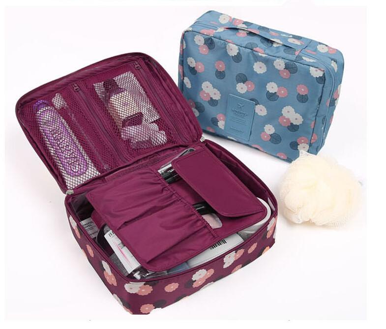 Woman Toiletry Makeup Kit Bag Storage Waterproof Cosmetic Bag ic Wash handBag Korea Multifunctional Organizer travel bagPicn(China (Mainland))