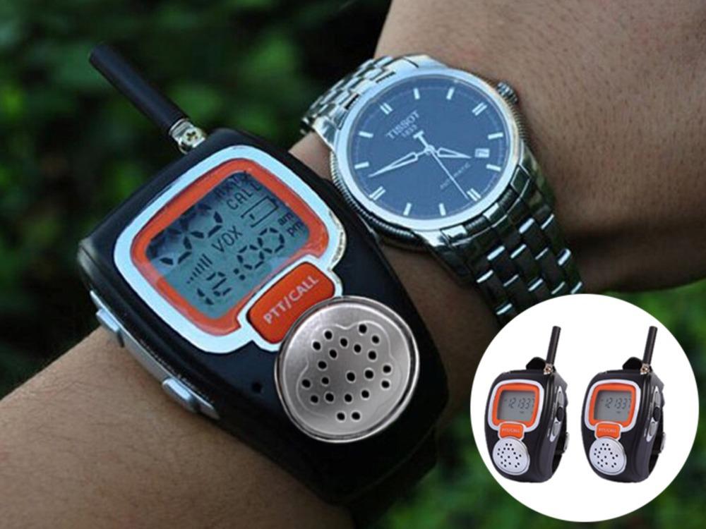2 Pieces/Lot New Two WawY Radio Walkie Talkie Watch KIDS Child Spy Wrist Watch Wristline GADGET TOY WALKY TALKY Free shipping(China (Mainland))