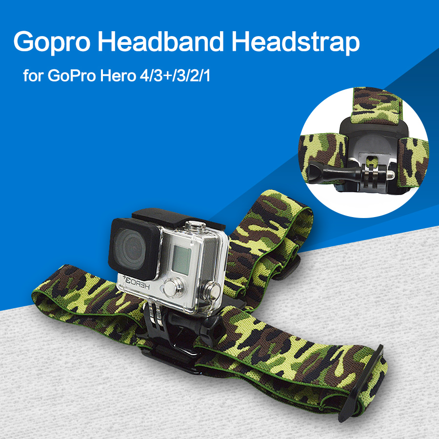 Action camera Gopro Accessories Headband Helmet Headstrap Mount For SJ4000 Go Pro Hero 4/3+/3/2/1 xiaomi yi 6 color optional