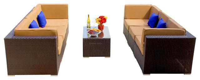 2016 Hot sale outdoor furniture rattan lounge sofa set(China (Mainland))