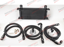 16 ROW 10AN AN10 UNIVERSAL ENGINE TRANSIMISSION OIL COOLER FILTER RELOCATION KIT