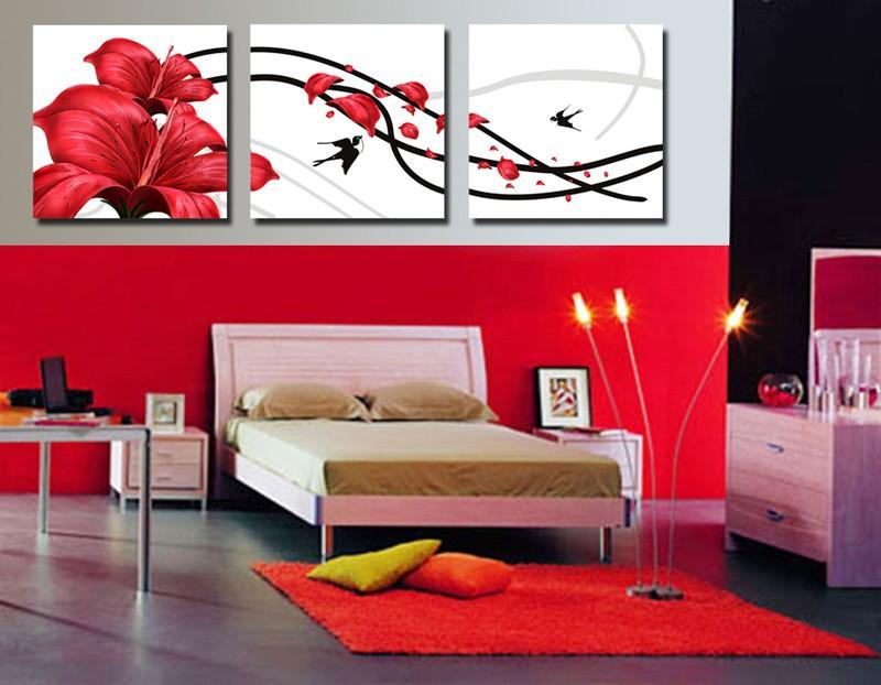 excellent tableau moderne grand format salon rouge chambre peinture achetez des lots petit prix. Black Bedroom Furniture Sets. Home Design Ideas
