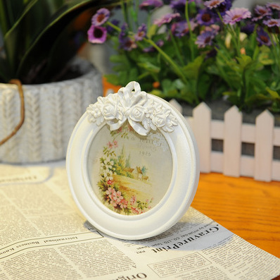1pcs/lot Princess series white rose photo frame series home Decoration Wall Wood Wedding Gift Pictures Wooden Photo Frame(China (Mainland))