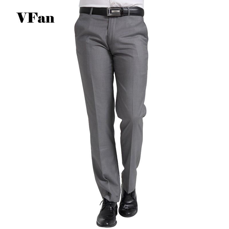 2015  Brand Business Повседневный Men Suit Брюки Formal Свадьба Брюки Сплошной Цвет Wrinkle Straight Trousers Z1616