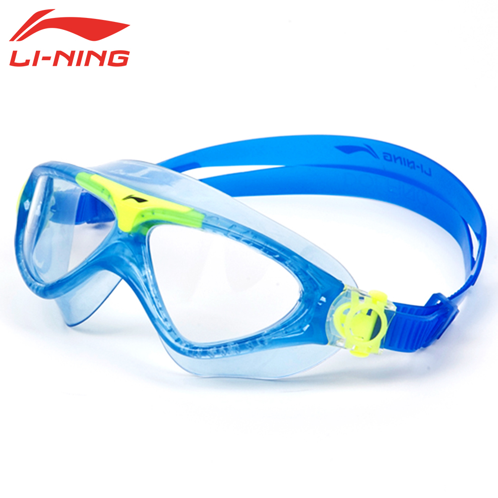 LI-NING Anti Fog Anti-ultraviolet Kids Swimming Goggles Children Waterproof Swimming Glasses Boys Girls Swim Eyewear LSJK388-1(China (Mainland))