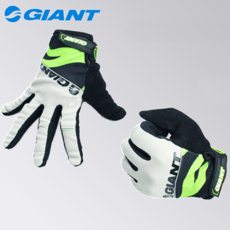 4 colors giant cycling gloves luva ciclismo guantes bicycle moto racing mountain bike sport outdoor long silicon pad long finger(China (Mainland))