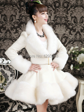 Artificial Faux Fox Fur Rex Rabbit Hair Coat Slim Inlay Fur Coat 2014 New Women Fall and Winter Cothes White Coat Free Shipping(China (Mainland))