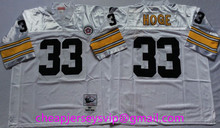 Stitiched Pittsburgh Steelers Ben Roethlisberger Terry Bradshaw Rod Woodson Lynn Swann Franco Harris Rocky Bleier mens Throwback(China (Mainland))