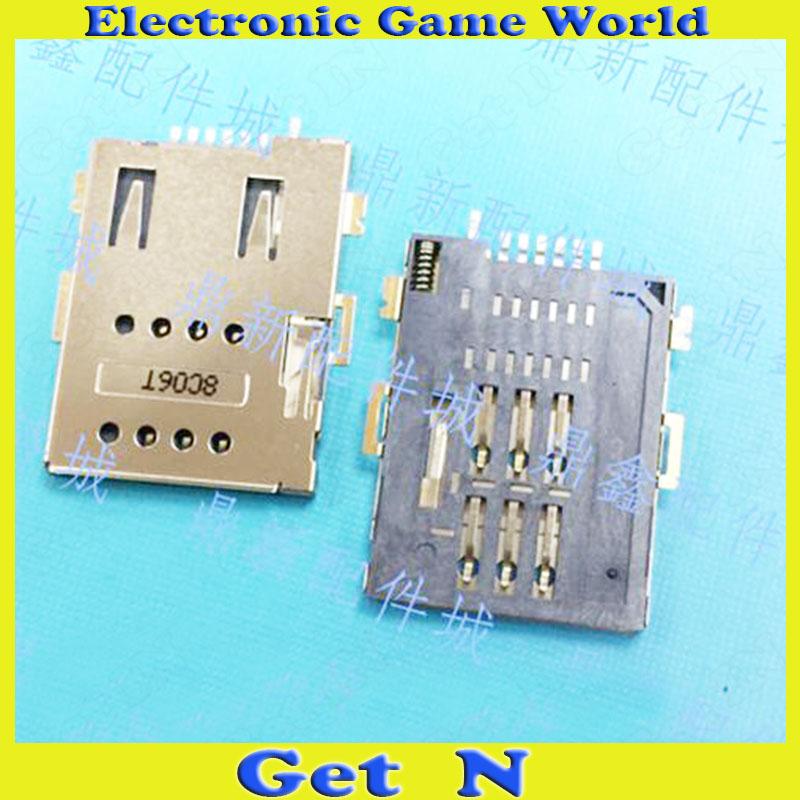 50pcs 6+1 P Self Push SIM Card Slot Connectors Tablet PC Phone 7Pins Push - Push SIM Sockect  <br><br>Aliexpress