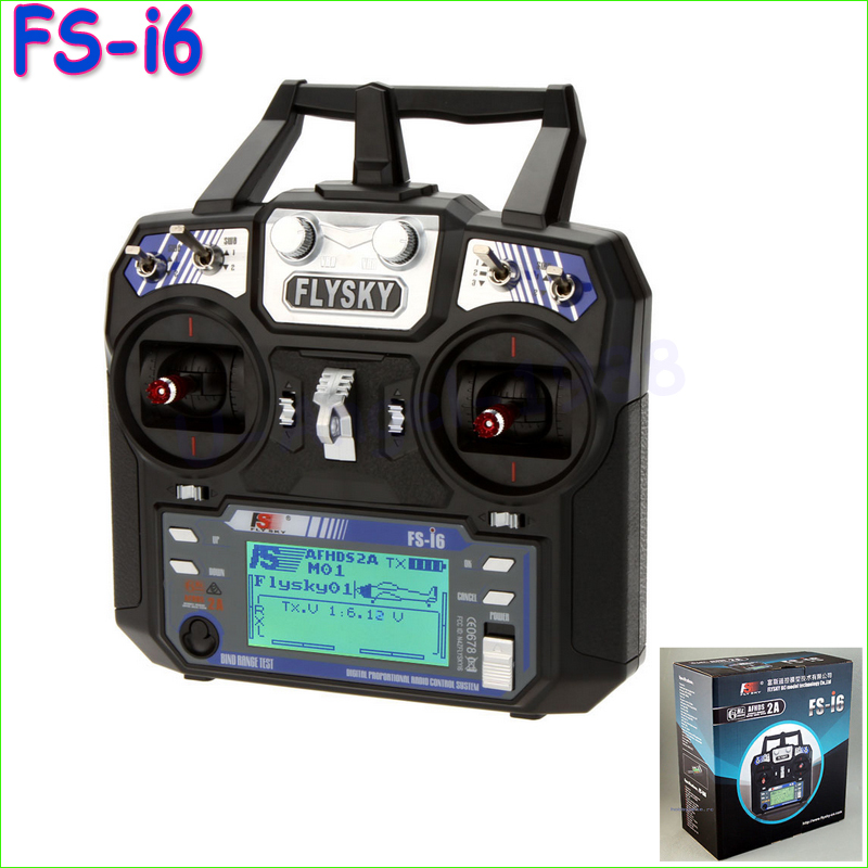 1pcs Newest Flysky FS-i6 FS I6 2.4G 6ch RC Transmitter Controller w/ FS-iA6 Receiver For RC Helicopter Plane Quadcopter Glider
