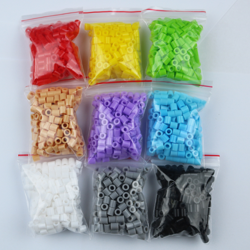 free shipping  Fuse Beads  5mm hama beads About 200pcs/bag 9 colors Perler Beads a total of 1800pcs<br><br>Aliexpress