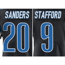 Men's #9 Matthew Stafford #20 Barry Sanders Black Color Rush Limited Jersey Embroidery Logos and 100% Stitched Free Shipping(China (Mainland))