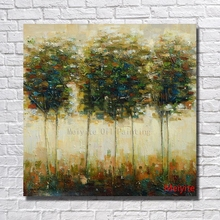 Buy Ba Pure Hand-painted Abstract Tree Oil Painting Canvas Beautiful Painting Modern Home Decoration Framed Art for $11.60 in AliExpress store