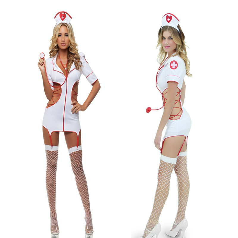 Sexy Nurse Costume Erotic Costumes Role Play Women Erotic Lingerie Sexy Underwear Red Cross Uniform Games