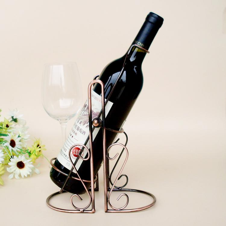 TYJ-005 Red Wine Bottle Rack Holder Wire Metal Wall Shelf Table Stand Home Decor -OF(China (Mainland))