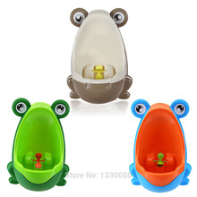 New Arrival Stylish PP Frog Children Stand Vertical Urinal Wall-Mounted Urine Groove Baby Urinal Free Shipping CS#8