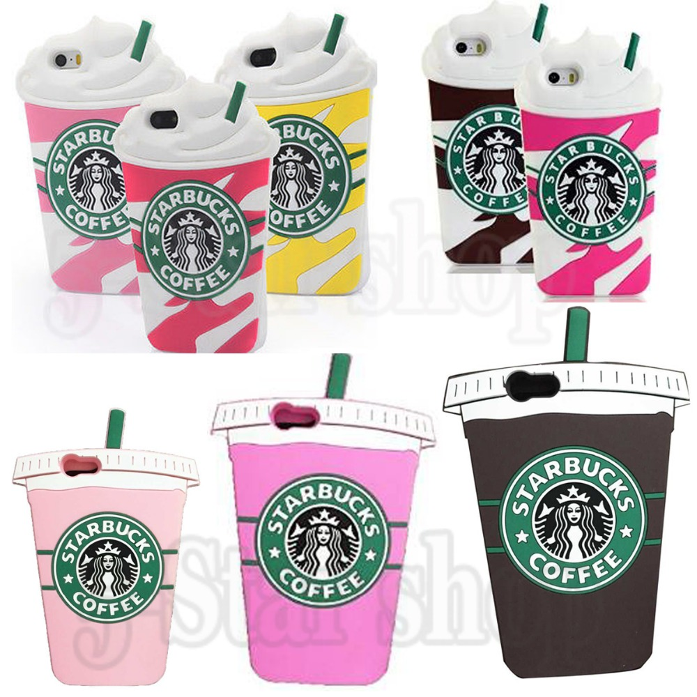 Wholesale Fashion Trendy 3D Starbuck Cup Phone Bags Soft Rubber Cover Silicone Case for Iphone 6 Plus/for iphone 6 6s/5 5s/4 4s(China (Mainland))