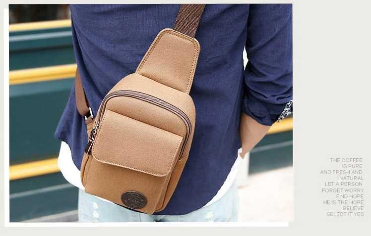 Европа стиль Мужчины грудь сумка Корейской версии случайные холст человек студенты мешок карманы мужчин и женщин пакет сумка мода