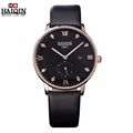 Mens watches top brand luxury HAIQIN New Fashion Leather Quartz Watch Waterproof Date Clock Casual business