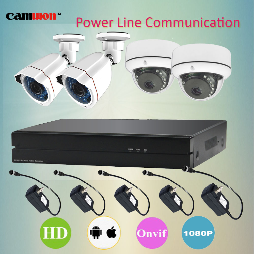 Camwon CCTV 1080P NVR IP Camera DVR Surveillance System 1080P IP Camera PLC Power Line Kit(China (Mainland))