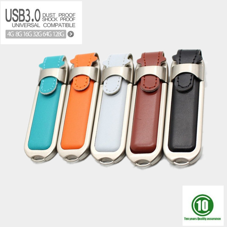 5 colors USB 3.0 Leather usb flash drive PC accessories Novelty USB Flash Drives 128GB 64GB 8G 16G 32GB Memory Sticks Pen Drives(China (Mainland))
