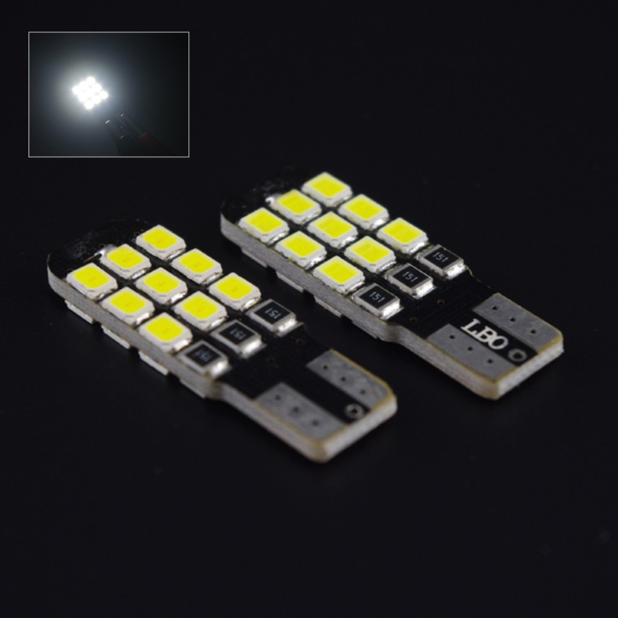 2X Super Bright T10 2835 18 SMD Canbus Error 10-16V Turn Signal Parking Side Marker Light W5W Wedge Bulb Lamp - X-Car LED&AUTO Supplies store