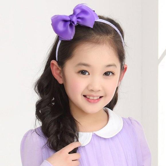 1 PCS New Fashion Ribbon Children Girls Ladies Headband Hair Band Bow Accessories Gift(China (Mainland))