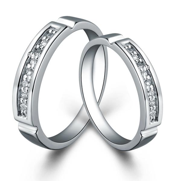 Couple Rings Engagement Silver Ring Fashion Anillo Crista Jewelry Wedding Jewellery for Men Anillos De Plata Ulove J032 Yuting(China (Mainland))