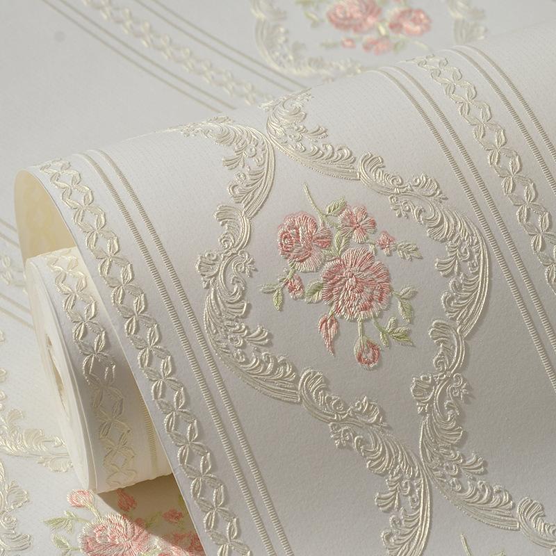 rosa flores de papel tapiz compra lotes baratos de rosa flores de papel tapiz de china. Black Bedroom Furniture Sets. Home Design Ideas