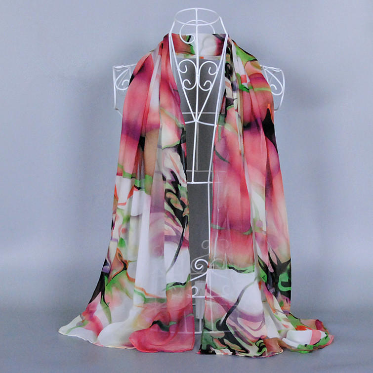 the Chinese ink and wash Wholesale 2016 New Products Hot Selling Chiffon Flower Soft Silk Rayon Scarf Wrap Shawl Stole For Women(China (Mainland))