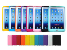NEW Colorful Very Soft Jelly Silicone Rubber TPU Case Gel Case Skin Shell Protective Back Cover For Apple iPad Mini 1 2 3(China (Mainland))