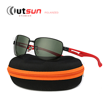 OUTSUN Hot Sale New Men's Polarized Sunglasses High Quality Brand Metal Driving Fishing Fashion Polarized Sun Glasses With Box