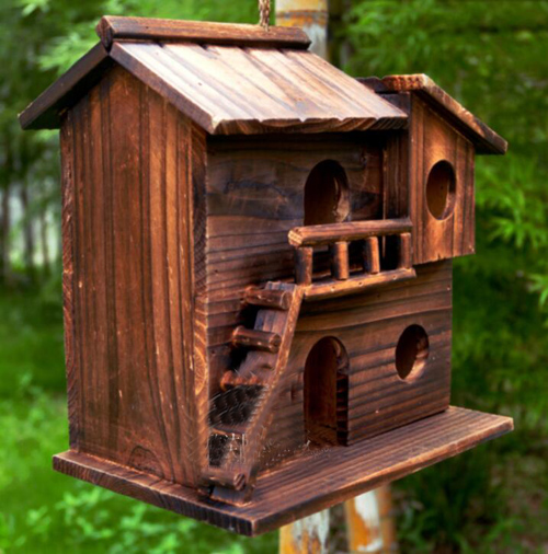 New 25*25*16 cm Wood preservative outdoor birds nest wood preservative bird nest decoration bird house wooden bird cage toy(China (Mainland))