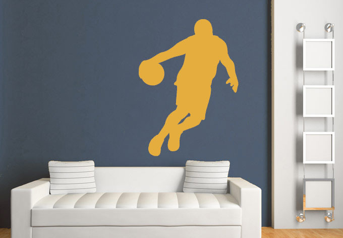 Basketball Player Team Wall Decals Vinyl Stickers High Waterproof Decorations Living Room For Boys Decor(China (Mainland))