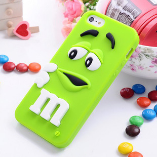 10 Colors 3D M&M Chocolate Case For Coque iPhone 4 Case Silicone Carcasa Cute Funda For Capa Para iPhone 4s Cover Capinha(China (Mainland))