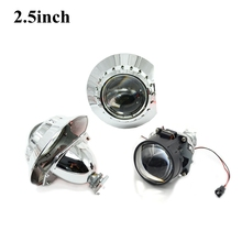 Buy 2.5inch Bi xenon bi-xenon Projector lens zkw shrouds hid xenon kit H1 H4 H7 car hid projector lens headlight Headlamp for $29.43 in AliExpress store