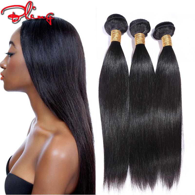 Здесь можно купить  Julia Hair 100% Unprocessed Virgin Hair Brazilian Virgin Hair Straight 100g 4 Bundles Straight Hair Extensions Natural Black  Волосы и аксессуары