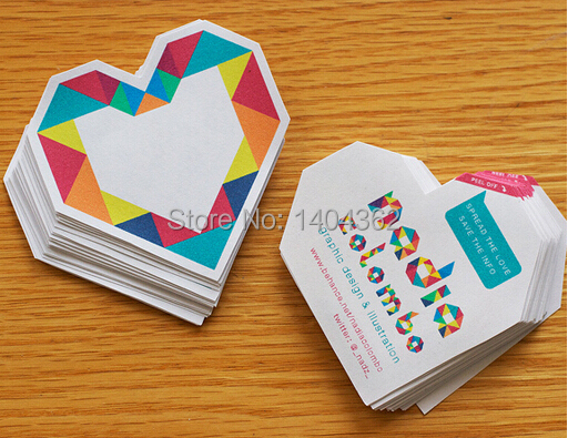 500pcs lot Custom shape Business Cards Die cut shape