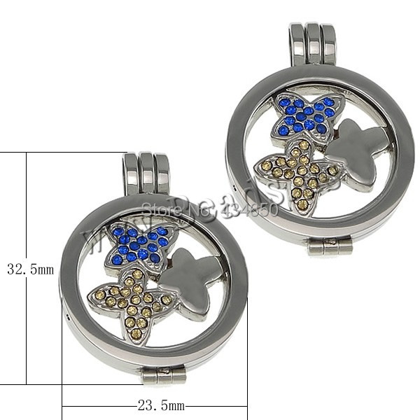 Wholesale Jewelry Stainless Steel Coin Locket Pendant Wholesale 2014 Jewelry 304 Stainless Steel Flat Round 3PCs/Lot Sold By Lot(China (Mainland))