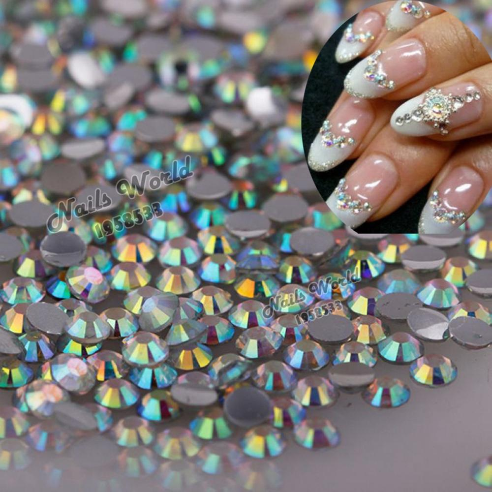 2mm 1000pcs/Pack ss6 Flatback Rhinestones Stones AB clear Bling Perfect DIY Nail Art Phone Case NO.22