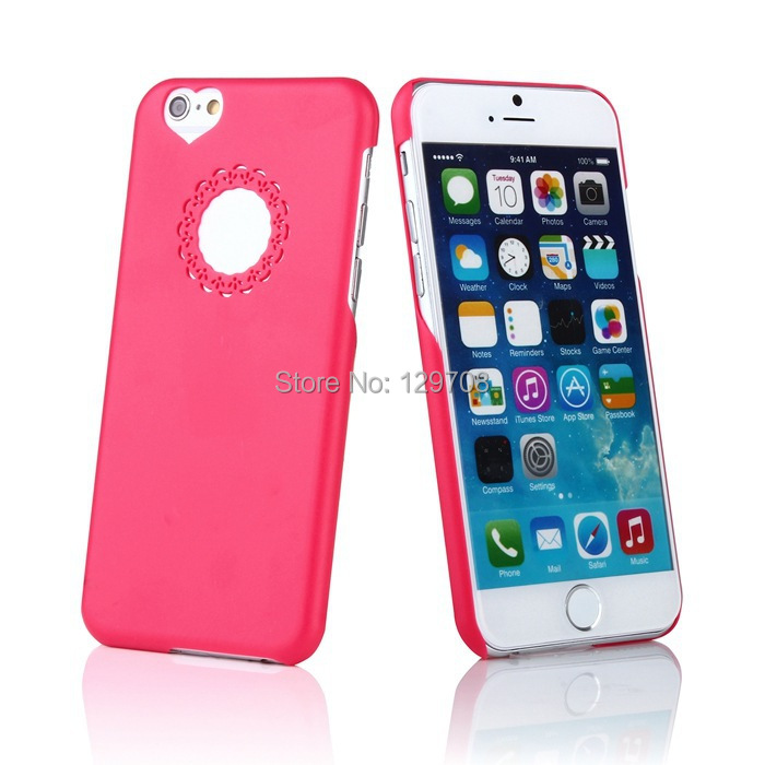 4.7inch Sweet Hollow Flower Heart PC Hard Case Apple iPhone 6 6G Mobile Phone Bag Cover iPhone6 1 - Huaqiang On Line store