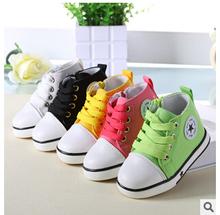 La caduta del 2015 bambini colore per ragazzi e ragazze monosaccaride frutta della stella di modo delle scarpe di tela spedizione gratuita(China (Mainland))