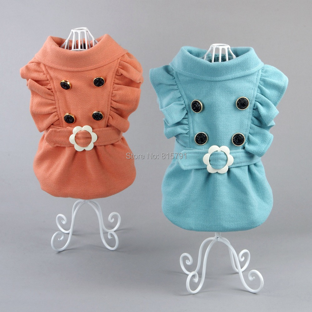 2015 new designer pet clothing dog coats for Autumn Winter, wedding dress for dogs dog shirts teddy,yorkshire grooming patterns(China (Mainland))