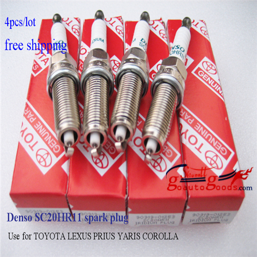 DENSO Iridium Platinum SC20HR11 used for LEXUS/TOYOTA/COROLLA/PRIUS Spark plugs 4pcs free shipping