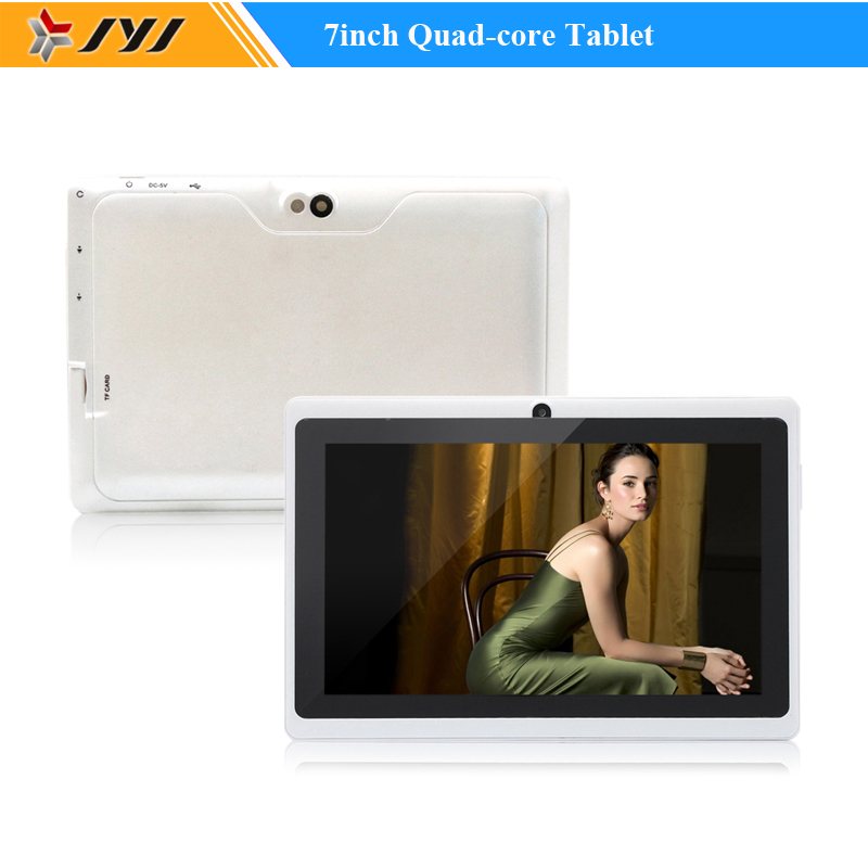 White Allwinner A33 7inch Capacitive Quad Core Android 4.4 Tablet PC 8GB Cameras WiFi 1.6GHz Google Play Store(China (Mainland))