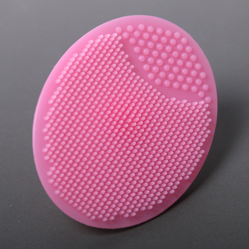 1pcs Healthy Baby Soft Silicone Cleaning Pad Wash Infant Face Exfoliating Brush SPA Skin Scrub Cleaner Tool 65*50*22mm(China (Mainland))
