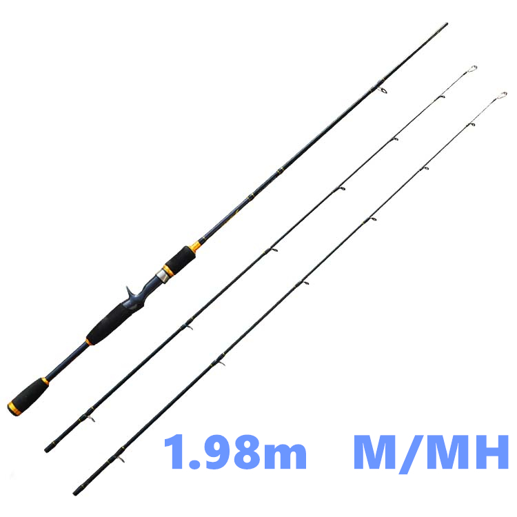 Free shipping 2 tips m mh casting fishing rod 6 39 6 for Shipping fishing rods