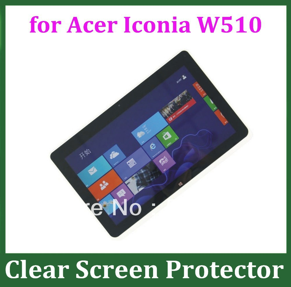 10pcs crystal clear screen protector guard film for acer for Table th size